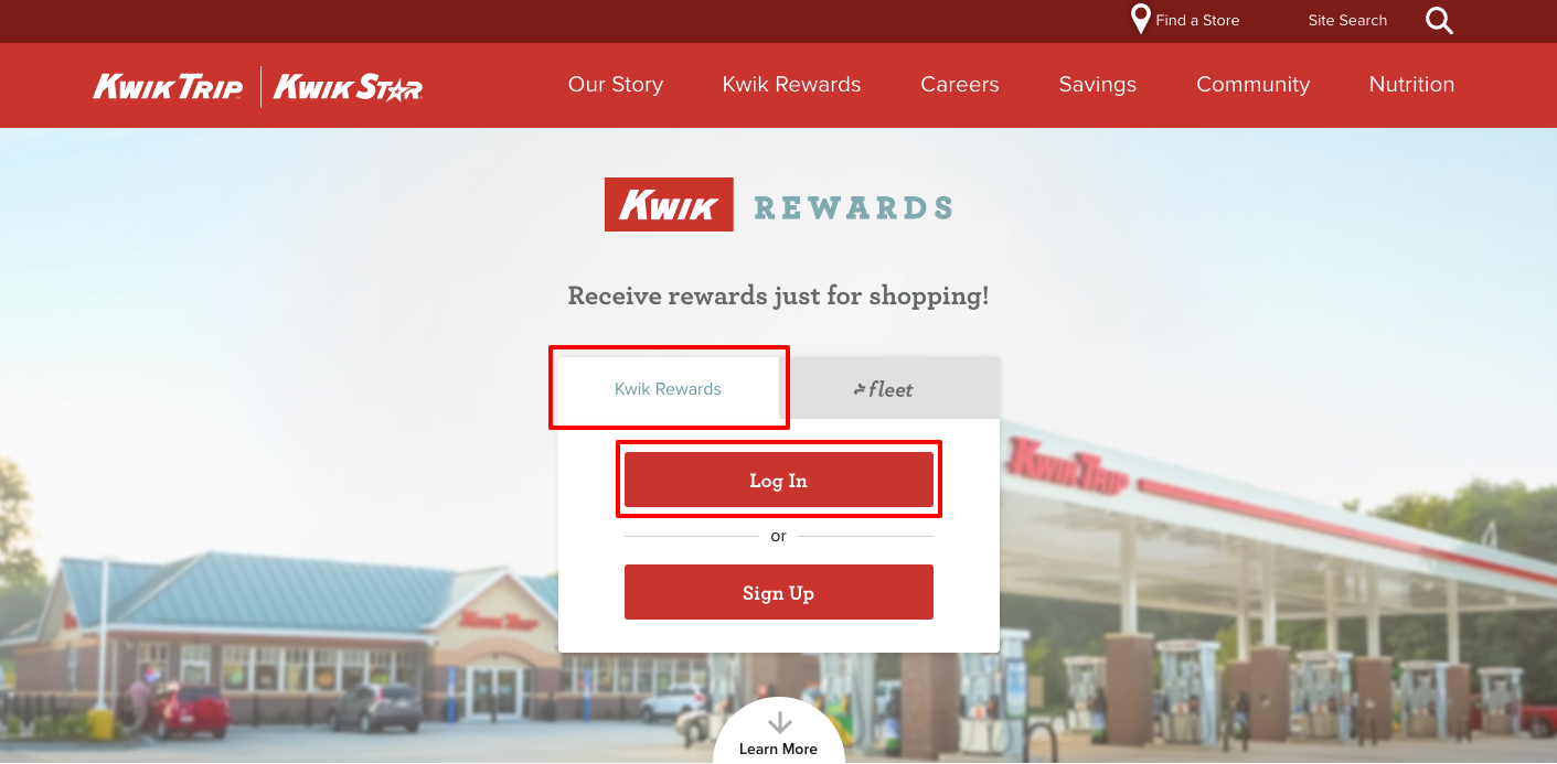 Kwik Rewards Login