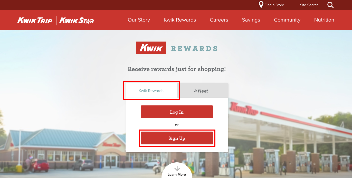 kwik rewards registration