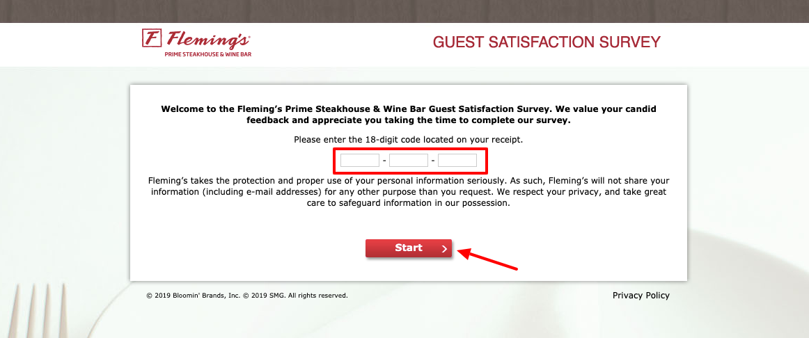 Fleming's Guest Satisfaction Survey