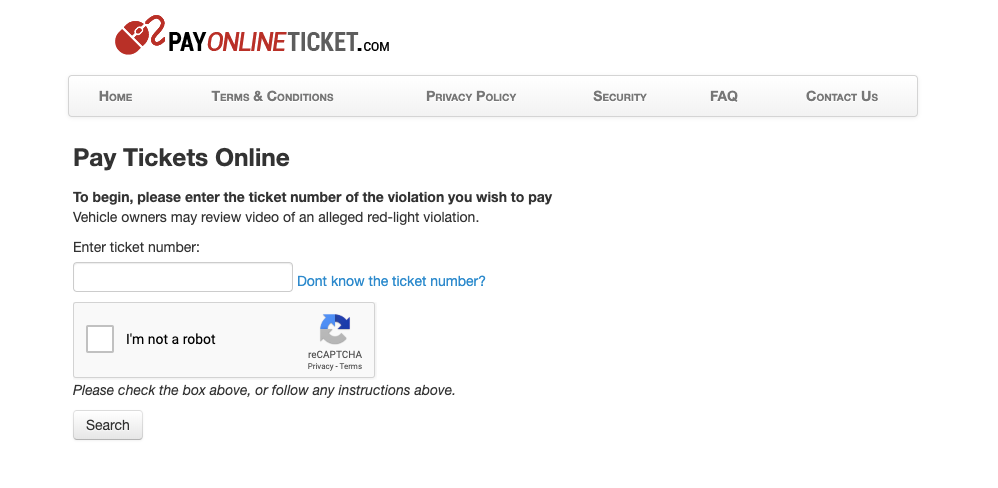 Pay Online Ticket