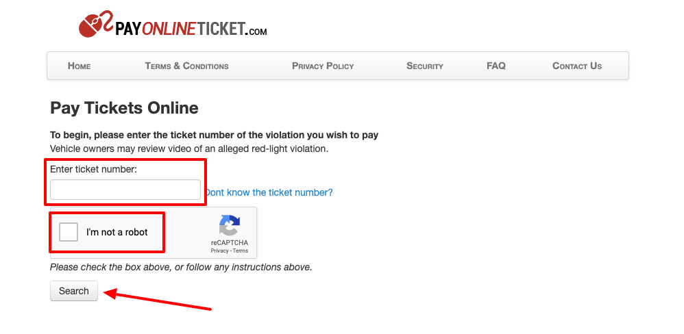 pay online ticket portal