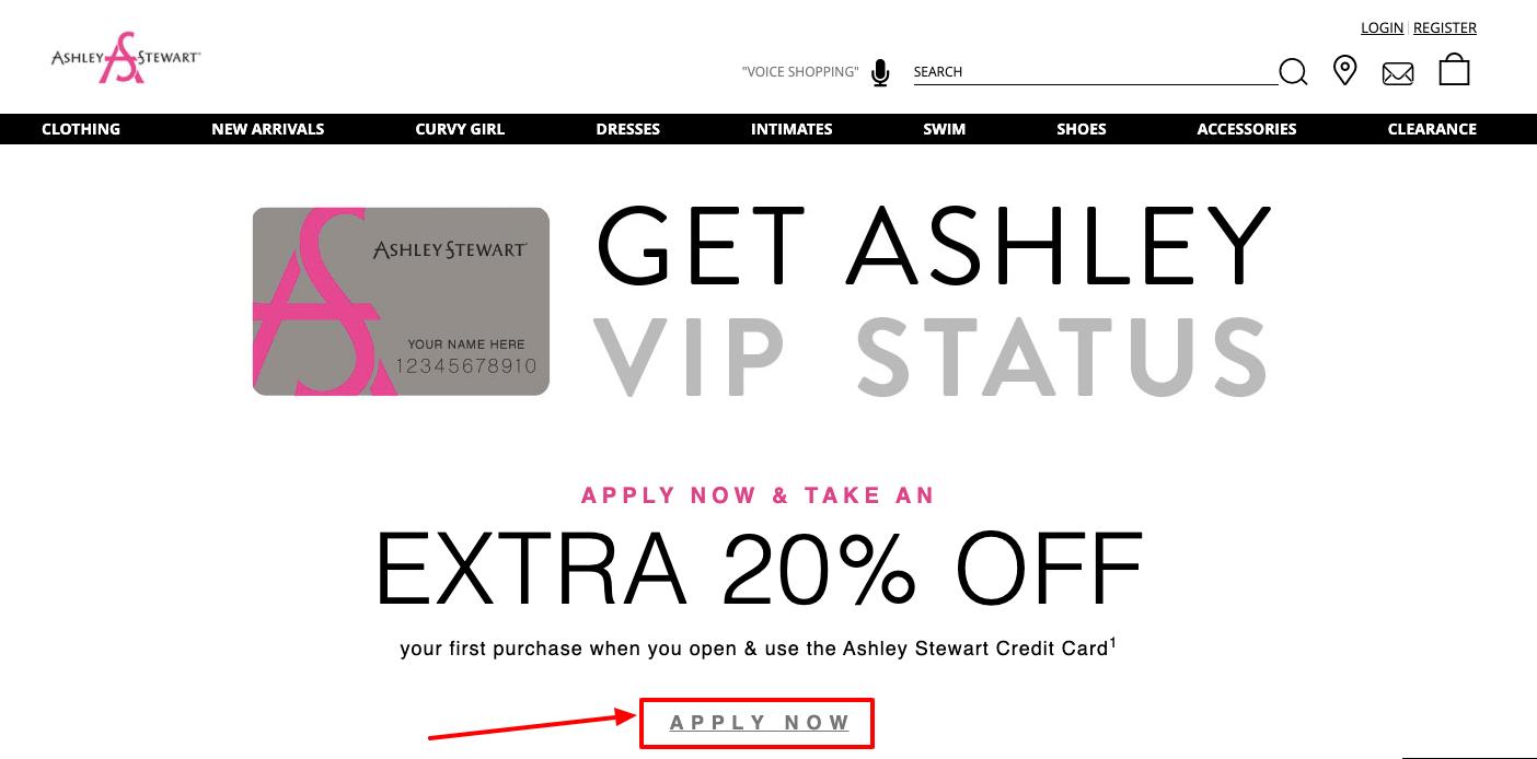 Ashley Stewart Credit Card Application