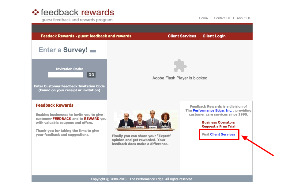Feedback Rewards Customer Survey
