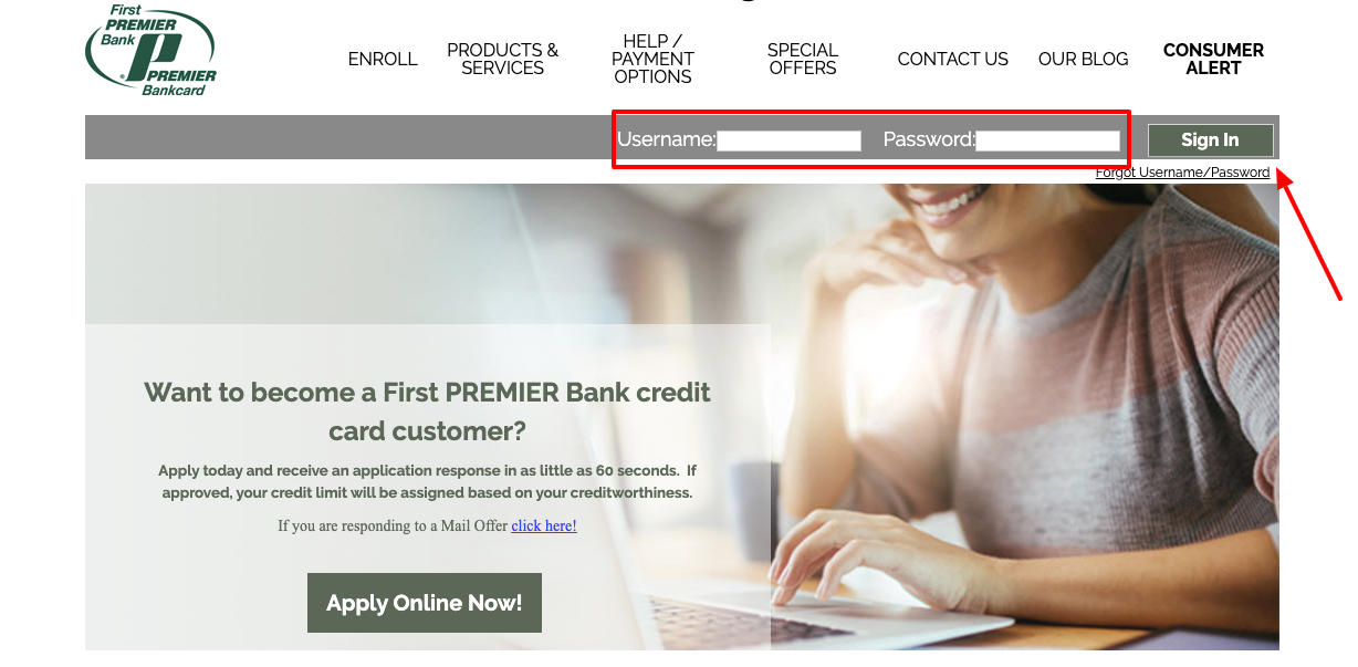 First Premier Bank Credit Card Login