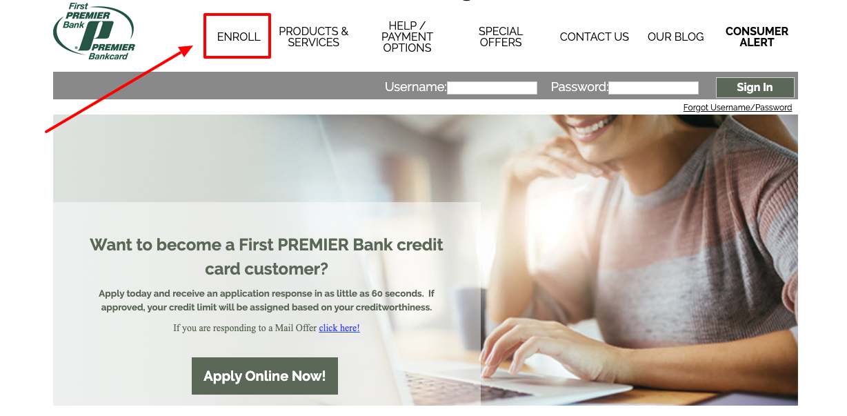 First Premier Credit Card Enroll