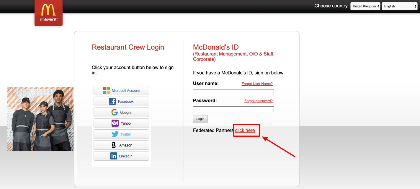 McDonald's ID Login