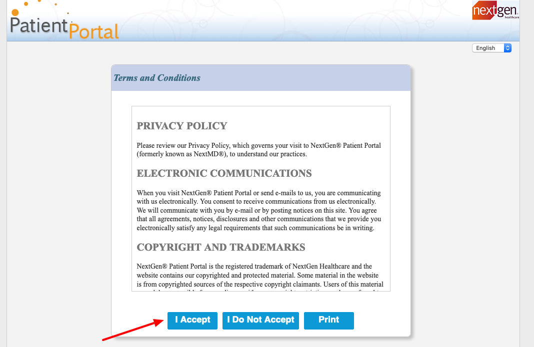 NextGen Patient Portal