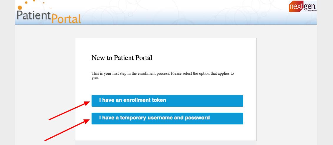 NextGen new Patient Portal