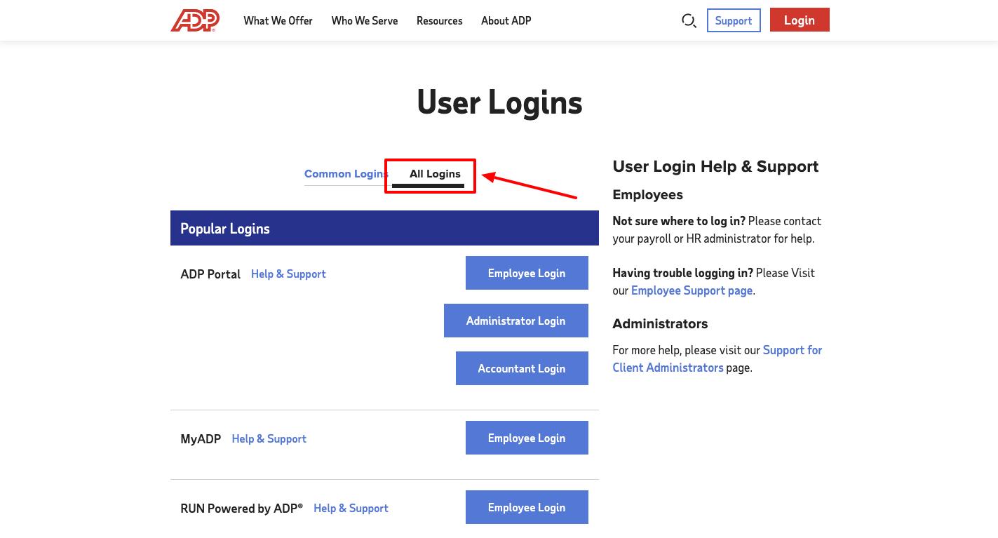 adp employee login