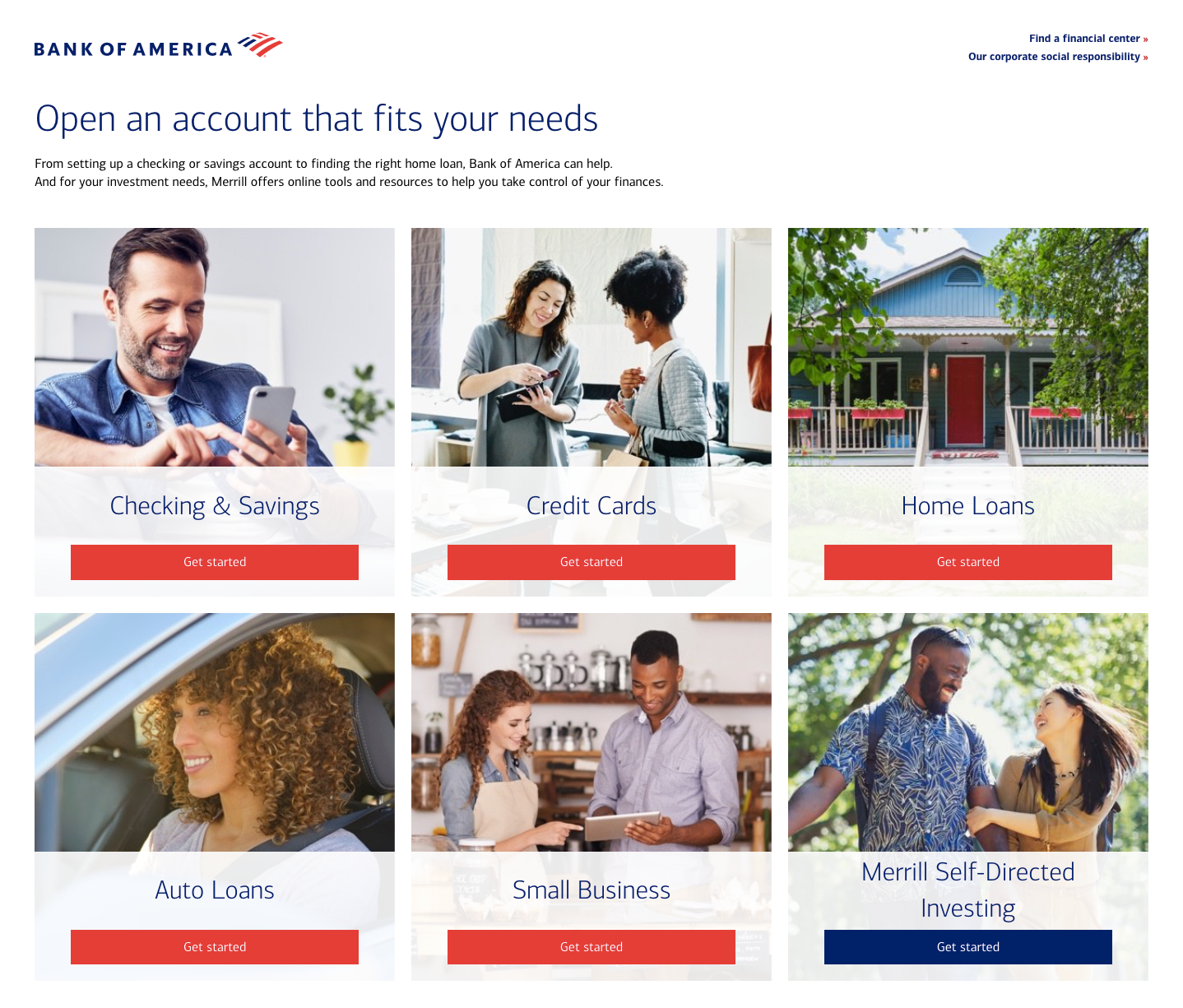 bank of america registration