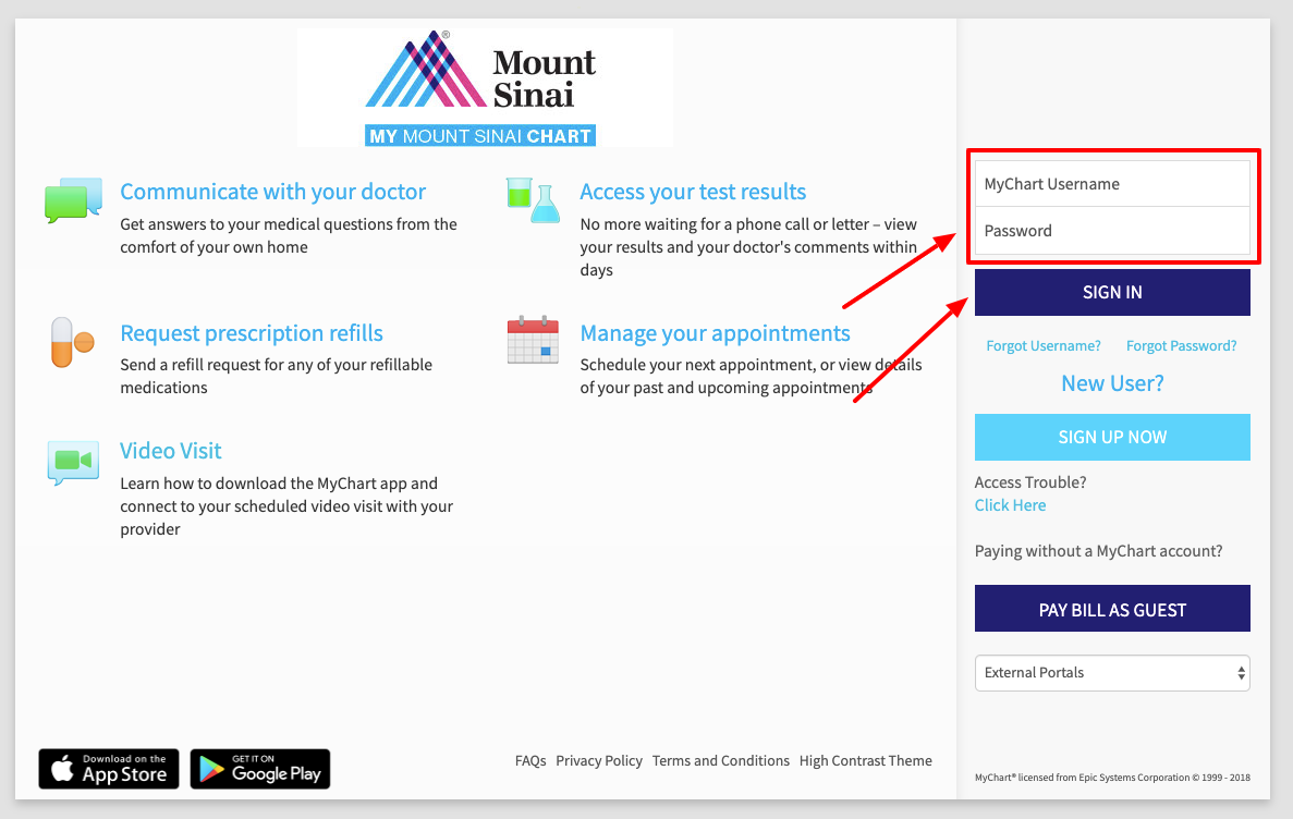 Mount Sinai MyChart Login