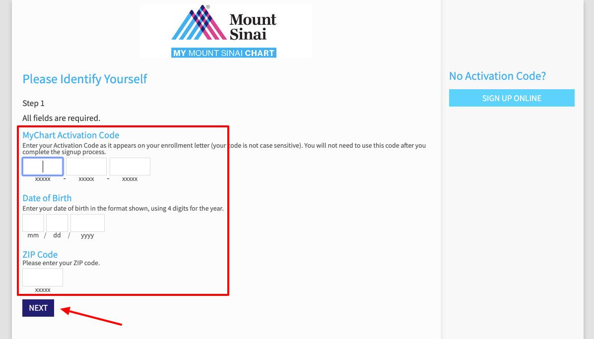 Mount Sinai MyChart Signup
