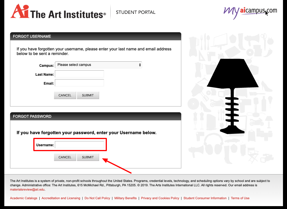 MyAiCampus Account Reset Password