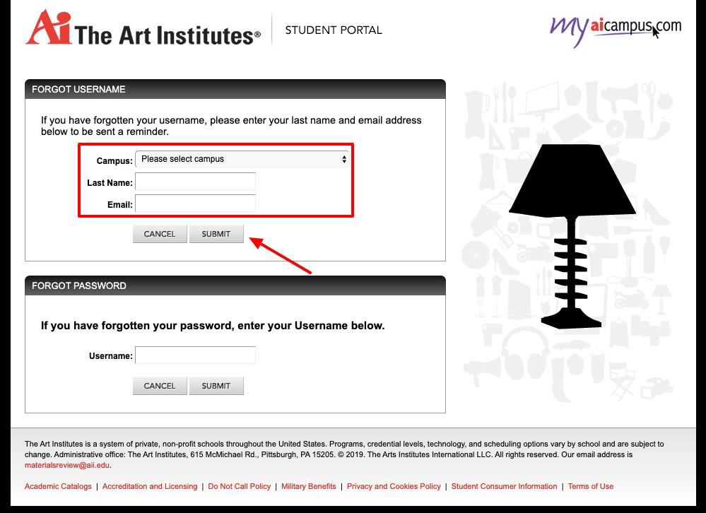 MyAiCampus Account Reset Username