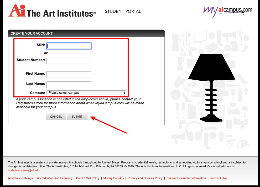 MyAiCampus student portal sign up