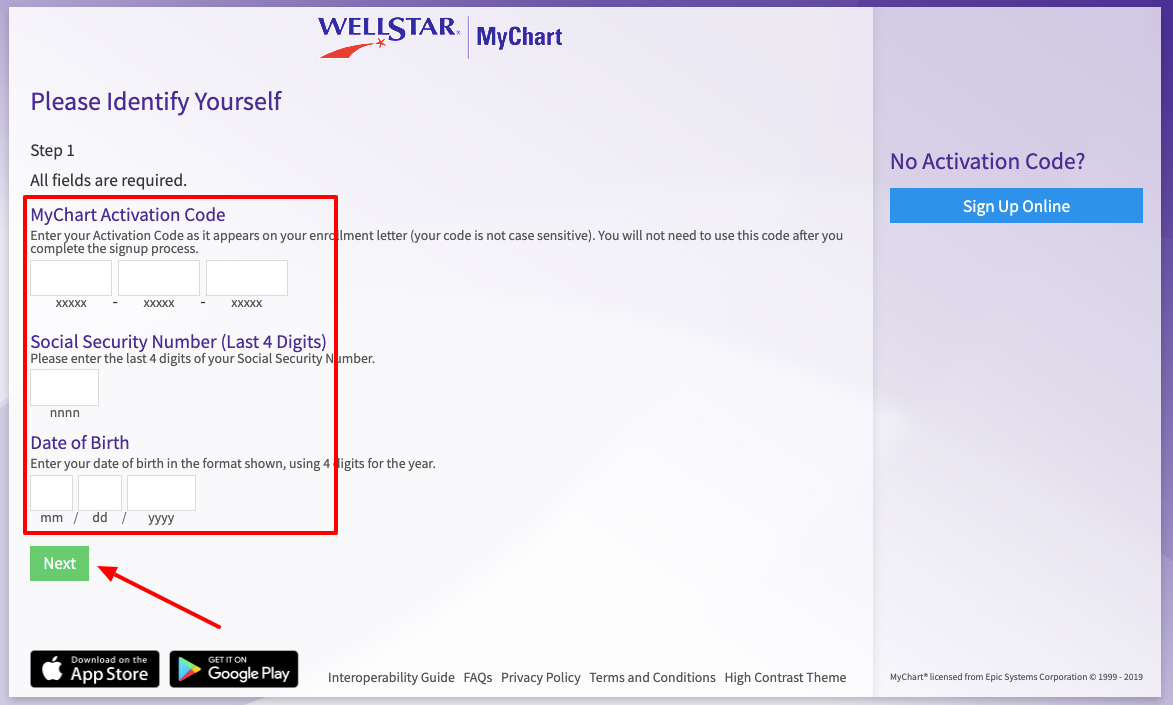 wellstar mychart signup