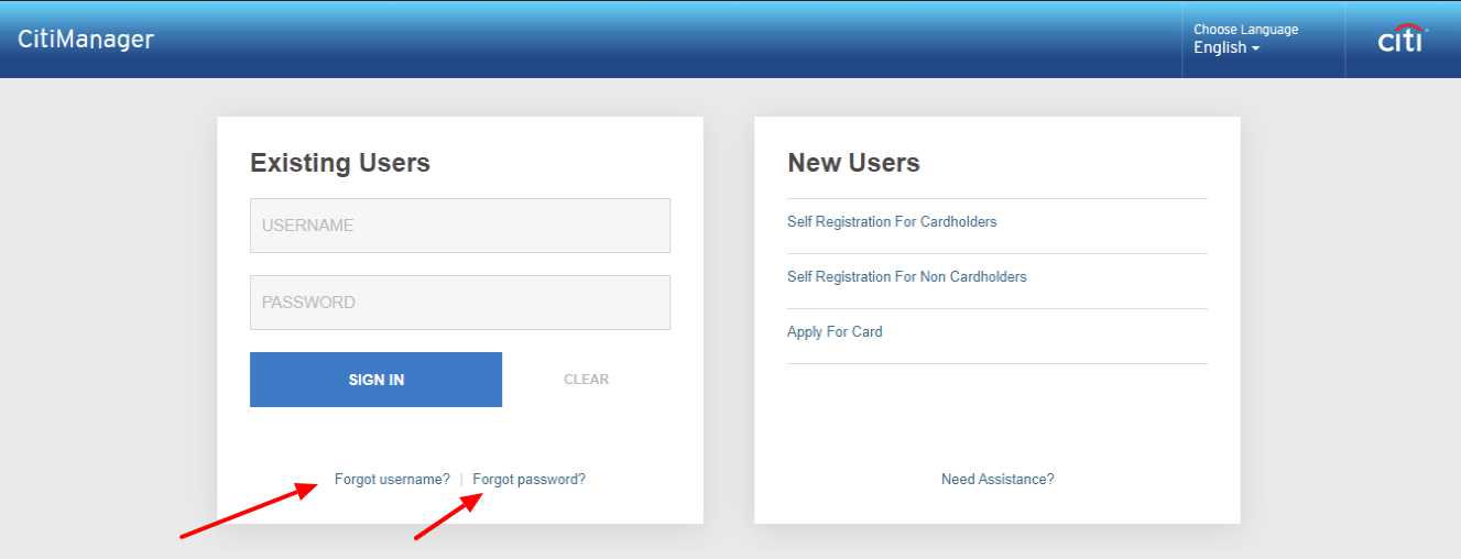 Citi Commercial Cards login