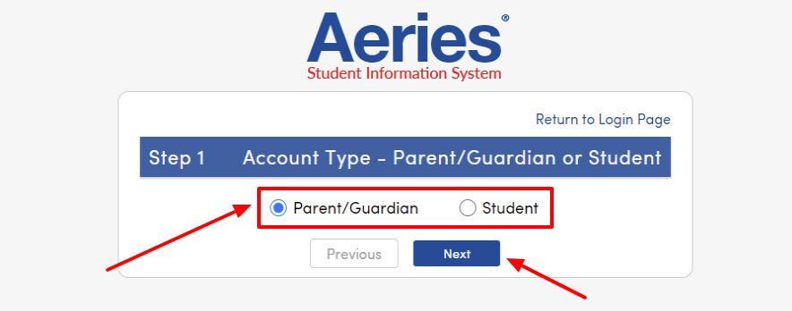 Create-New-Aeries-Parent-Student-Portal-Account
