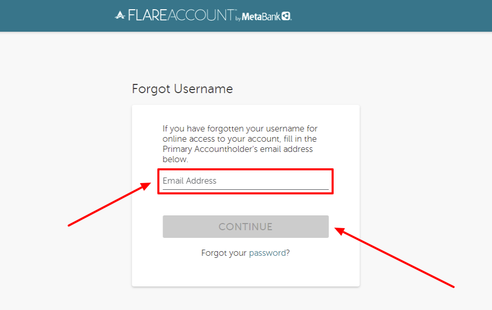 ace flare account forgot username