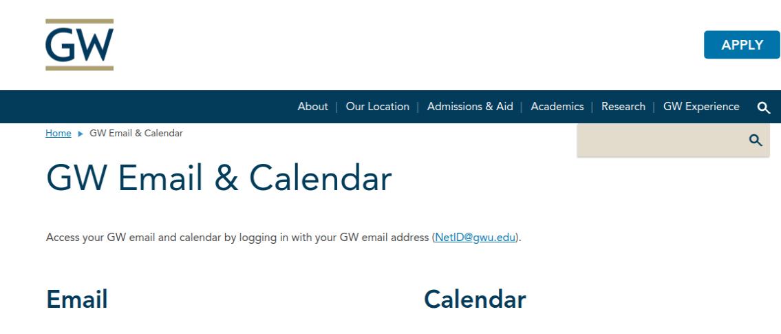GW Email Logo