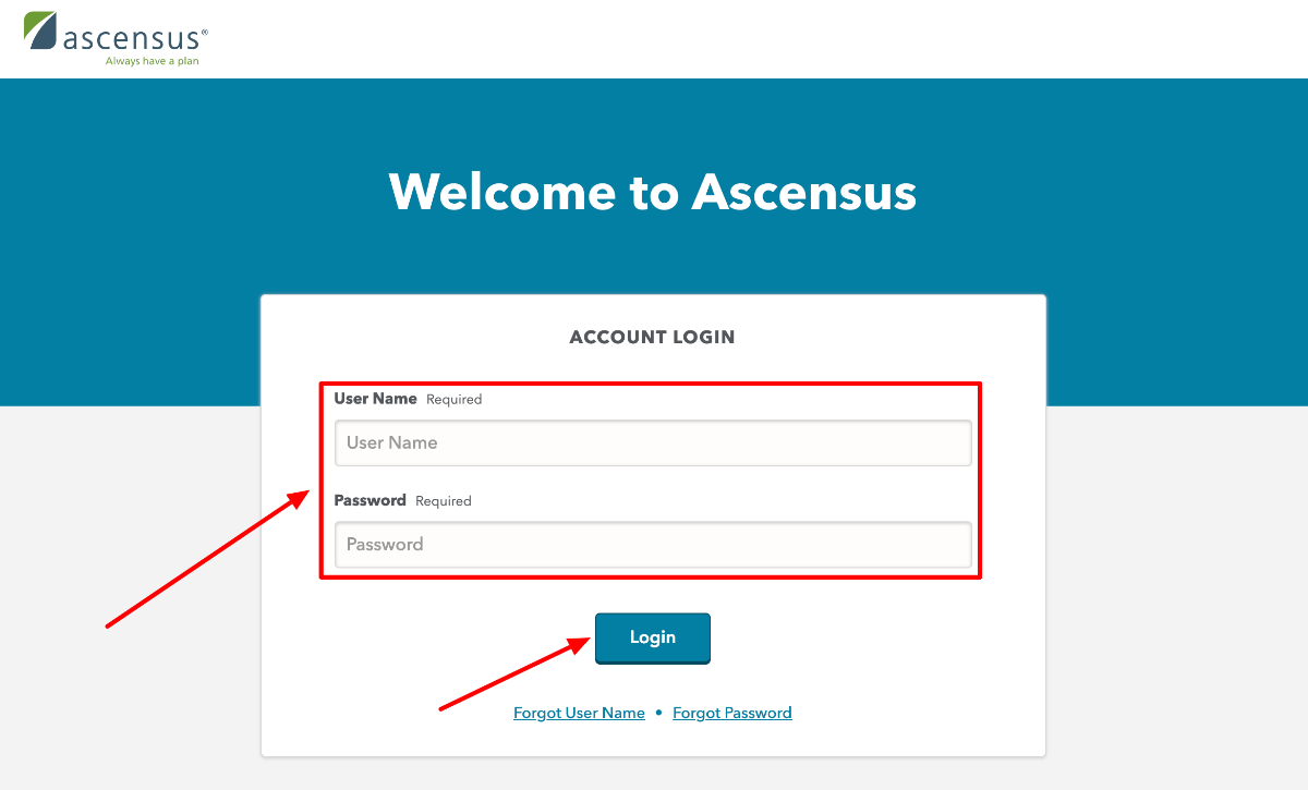 Ascensus Employer Sign in
