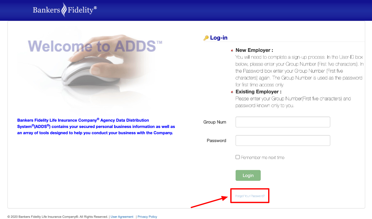Reset Bankers Fidelity Employers Login